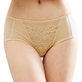 思薇爾-花緹系列M-XL蕾絲低腰平口內褲(旭日黃)