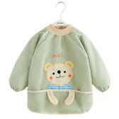 罩衣兒童女寶寶秋冬防水圍兜燈芯絨圍裙吃飯男童小孩護衣冬季圍衣