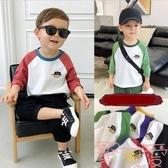 童裝男寶寶上衣兒童小童寬松潮流長袖t恤【聚可愛】
