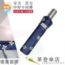 雨傘 陽傘 萊登傘 抗UV 防曬 不回彈 無段自動傘 自動開合 銀膠 幸運草 Leotern (深藍)