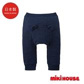 MIKI HOUSE 日本製 可愛小熊頭針織長褲
