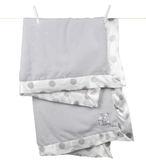 頂級 冬季首選 嬰兒被 Little Giraffe 美國 頂級攜帶毯 - 豪華彩色新點點嬰兒毯(銀灰款)  NDLBKTSV