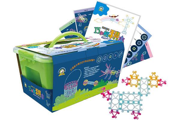 小牛津塑膠教具 寶寶5Q–巧手軟積木【附示範手冊*1、教學圖卡16張】