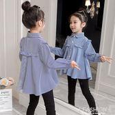 女童襯衫長袖2019秋裝新款韓版3-12歲兒童春秋上衣小女孩洋氣襯衣-ifashion