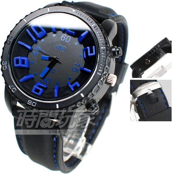 QF 清楚大錶面 數字錶 酷炫配色 男錶 A1604藍 大錶 大錶徑 男錶 中性錶 女錶 防水手錶 橡膠錶帶