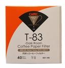 金時代書香咖啡 CAFEC 三洋 T-83 錐形漂白深烘專用濾紙 01 1-2人用 40入裝 CFD-01-T-83