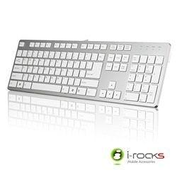 {光華新天地創意電子}i-rocks艾芮克 IRK01 銀白色 巧克力超薄鏡面銀色鍵盤  喔!看呢來