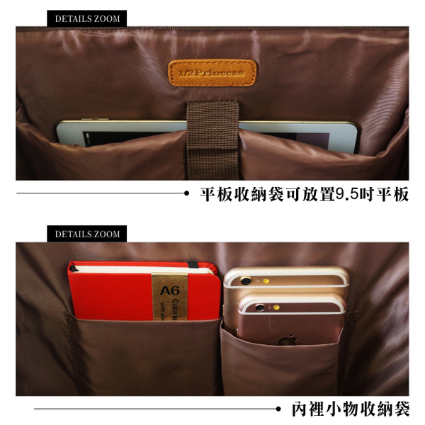1/2princess二代復古皮革經典重現4WAY醫生包後背包-3色[A2746]