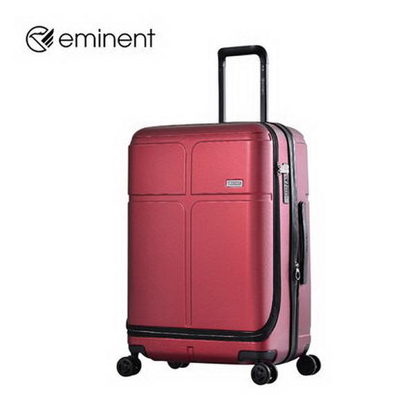 EMINENT雅仕 20吋 萬國通路 CHANCE 前開式商務箱 PC材質 行李箱/旅行箱-(紅) KJ10