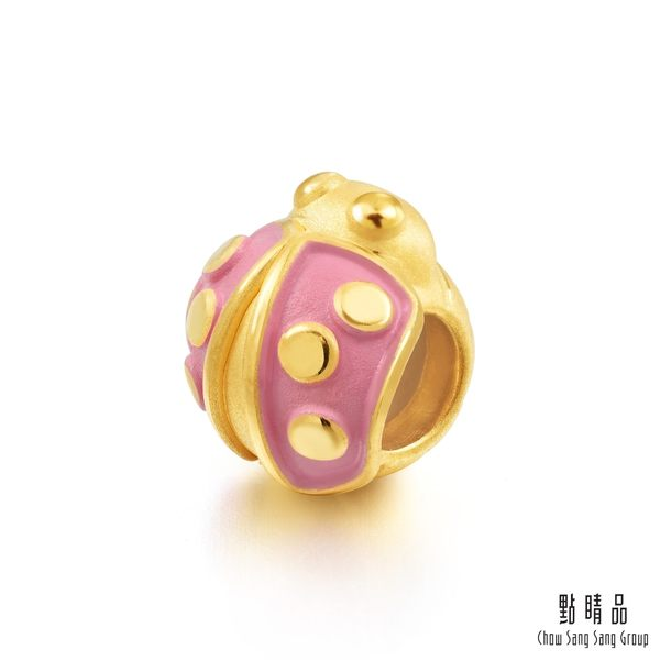 點睛品 Charme 可愛小甲蟲 黃金串珠