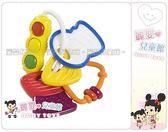 麗嬰兒童玩具館~美國kids II-Bright Starts專櫃-愛因斯坦鑰匙圈牙膠固齒器(公司貨)