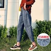 闊腿牛仔褲女褲子直筒寬鬆高腰顯瘦大碼胖mm老爹蘿卜九分新款
