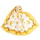 LANVIN滿版花卉印花披肩絲巾(黃色)487999