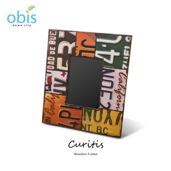 AA012-Curitis車牌拼貼工業風木質相框/預購(OBS/DH81957VQ2E木相框)【DD House】