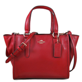 COACH 專櫃款 全皮革手提 肩背 斜背 多用途托特包(紅色)-33537