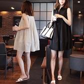 棉麻連衣裙女韓國寬鬆大碼學生無袖a字娃娃裙小清新公主裙夏 喵小姐