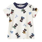 DOUBLE_B 日本製小黑 熊滑板車短袖T恤(白)