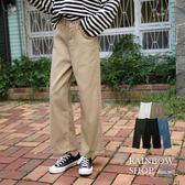 現貨-俐落純色直筒寬褲-P-Rainbow【A02351】