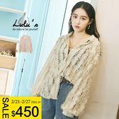 LULUS-C透膚羽毛蕾絲造型襯衫-杏  現+預【01032283】