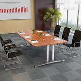 圓角長條電腦桌會議桌辦公桌組合大班台培訓洽談書桌長會客桌xw