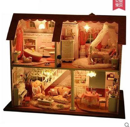 趣屋diy小屋手工拼裝模型房子玩具大型別墅屋創意生日禮物