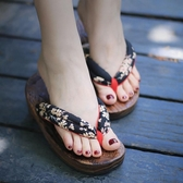 橡膠 分左右 日式人字拖鞋 半月木屐女款