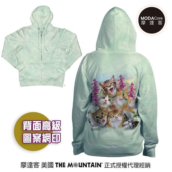 摩達客 預購-美國進口The Mountain 貓咪哦耶 女版長袖連帽外套