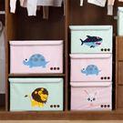 收納箱 卡通貼花收納箱布藝折疊整理箱大號有蓋衣物衣服玩具收納盒 igo 傾城小鋪