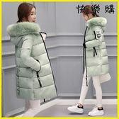 羽絨外套 棉衣中長款冬季加厚棉襖羽絨棉服