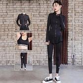 瑜珈服運動套裝(三件套)-時尚假兩件慢跑休閒女健身衣73mt23【時尚巴黎】