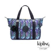 Kipling 渲染潑墨金點印花手提側背包-ART M