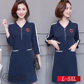 時尚個性休閒連衣裙 L-5XL O-Ker歐珂兒 151843-C