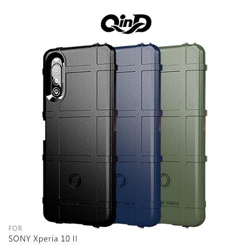 摩比小兔~QinD SONY Xperia 10 II 戰術護盾保護套 保護殼 手機殼