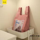 兩色 輕便中號折疊環保購物袋 便攜手拎包【時尚大衣櫥】