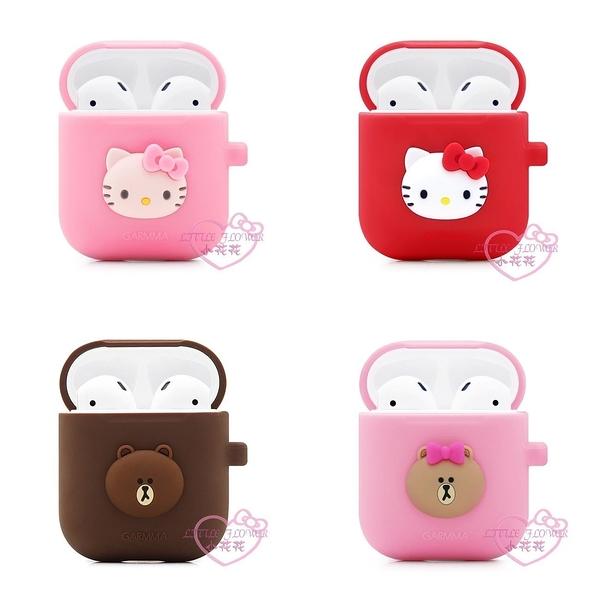 小花花日本精品♥ Hello Kitty凱蒂貓熊大熊美藍芽耳機盒保護套Airpods防刮防摔粉/紅色/咖啡色款式