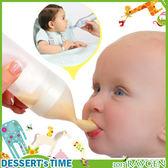 寶寶幼兒矽膠離乳擠壓式餵食瓶/哺食餵食器/適流質食物