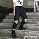 Mapogo 19韓國bf風街頭嘻哈束腳工裝褲可拆卸休閒褲學生潮男女款 時尚芭莎