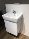 【麗室衛浴】德國 GEBERIT PLAN面盆222255 +烤漆浴櫃 尺寸55cm