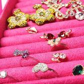 年終盛典 珠寶盒麂皮絨帶鎖公主歐式木質韓國手飾品耳釘耳環珠寶收納盒簡約