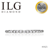 (零碼)【ILG鑽】Light's Ring 極細半圈線戒- 頂級美國ILG鑽飾,媲美真鑽亮度的鑽飾 RiN03