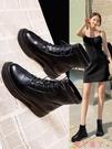 馬丁靴 馬丁靴女英倫風增高2021冬季新款瘦瘦秋冬系帶百搭潮短靴 愛丫 新品