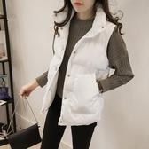 馬甲外套 2020年新款女士馬甲女短款韓版秋冬羽絨棉服背心面包服馬夾外套女 霓裳細軟