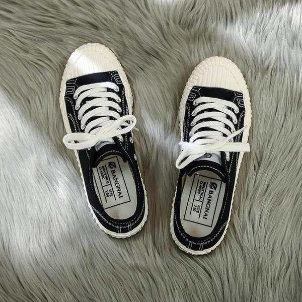 餅干帆布鞋女學生百搭韓版港風布鞋原宿山本風板鞋Mandyc