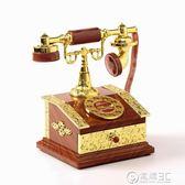 音樂盒復古懷舊撥盤式電話座機發條八音盒創意擺件電話音樂盒居家裝飾品 電購3C