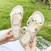 羅馬涼鞋羅馬涼鞋女仙女風ins潮2021年新款夏季一字帶海邊百搭學生平底鞋 迷你屋 新品