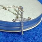 S925銀十字架鑲3A鋯石鑽項鏈(附S925銀項鏈)