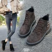 馬丁靴 女夏季薄款透氣短靴網紅短款馬丁鞋女英倫風靴子女春秋單靴 - 古梵希