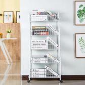 儲物架 網籃置物架客廳浴室放書架多層架落地廚房臥室收納儲物架移動推車