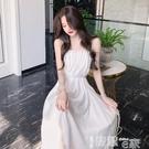 吊帶裙 白色吊帶連衣裙女夏裝2021年新款法式復古小眾初戀氣質過膝長裙子 【99免運】