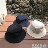 原宿不易沾水帆布ulzzang漁夫帽 男女基礎款chic盆帽夏  遇見生活